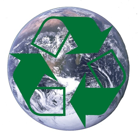 planet earth with recycle arrows symbol Stock fotó