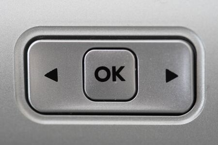 alright: ok button Stock Photo