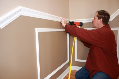 wainscotting trim instalation