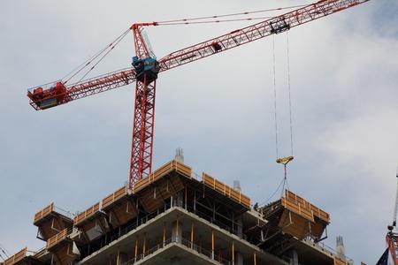 crane on top of skyscraper