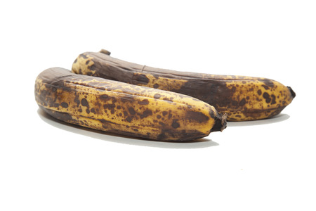 old brown unhealthy rotten bananas fruit Stock Photo