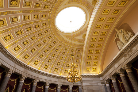 architectural tradition: capitol building interior of dome  in washington dc