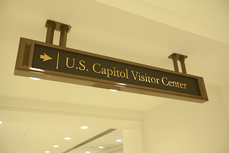 us capitol: sign for the US Capitol Visitor Center