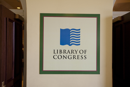 entrance to the Library of Congress 版權商用圖片