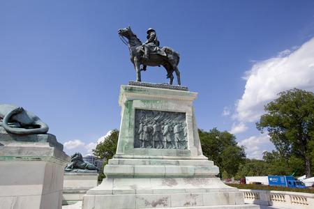 president???s: WASHINGTON DC - 23 MAY 2014: L'Ulysses S. Grant Memorial � un memoriale presidenziale a Washington, DC, onorando Guerra civile americana in generale e il presidente Ulysses S. Grant. Si trova alla base del Campidoglio Editoriali