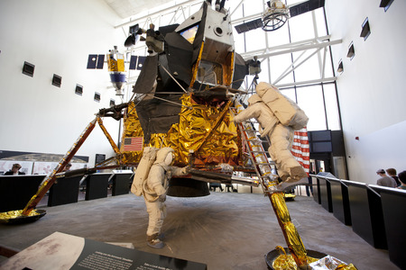 WASHINGTON D.C. - MAY 24, 2014:The Apollo Lunar Module (LM) was a two-stage vehicle designed by Grumman to ferry two astronauts from lunar orbit to the lunar surface and back. Sajtókép