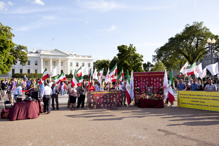 protesters: Protesters for Iraqui prisoners in front of White House