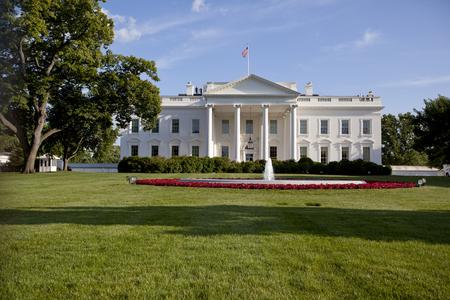 blue and white: white house washington dc Editorial