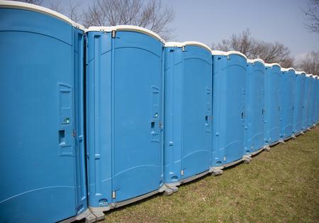 latrine: portable outdoor toilets