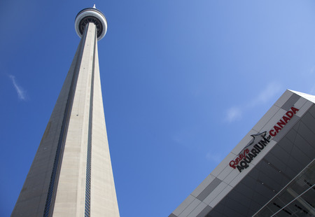 TORONTO- SEPTEMBER 15, 2014: Ripley's Aquarium Canada loacated at the foot of the CN tower in Toronto. Editorial