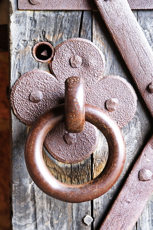 ironwork: a Old Burgtuer with ironwork