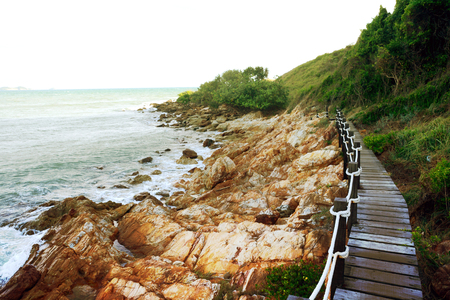 sight seeing: walkway beside the sea, sight seeing