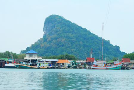 fishery: fishery village beside the sea