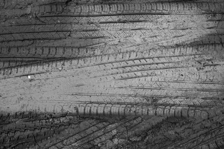 tyre tread: abstract wheel trail background