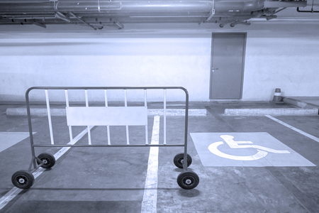 Parking for physically disabled people Banque d'images