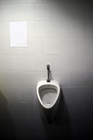 Urinals for male to pee in the toilet or rest room
