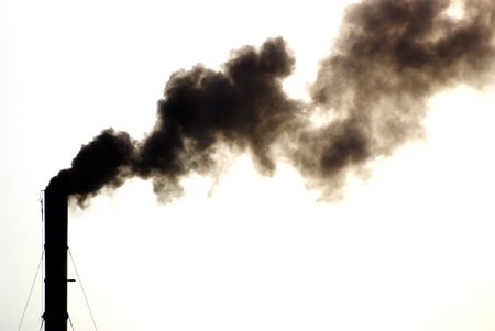 Chimney with black smoke And substance abuse