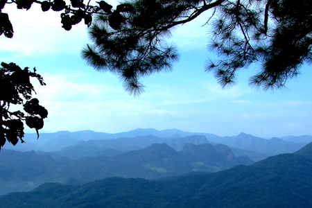 beautiful land scape. mountain view