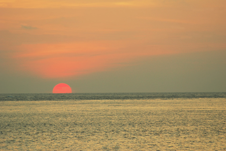water sunrise,Sun Setting The Horizon