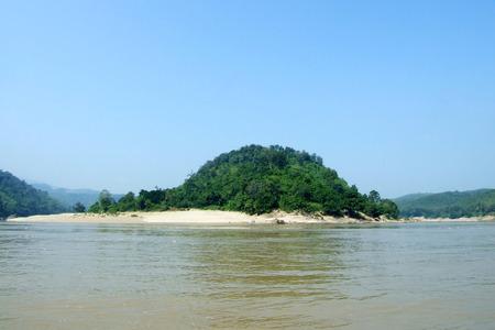 Beautiful lake, peaceful lake, Reflection lake with blue sky
