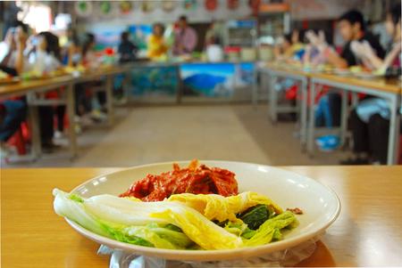Preparation of Kimchi, traditional food of South Korea