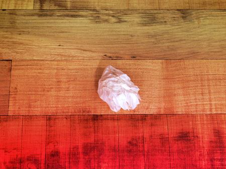 Tissue paper trash, dreamy color