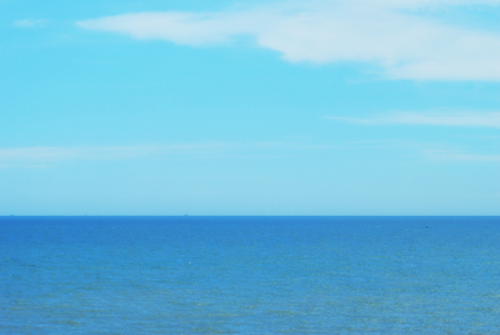 Blue sea and Blue clear sky as background