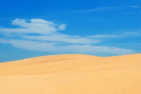 Beautiful Sad Dune with blue sky at Muine, Vietnam Stock fotó