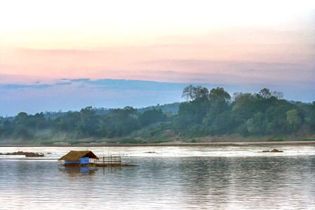 floating house on the river
