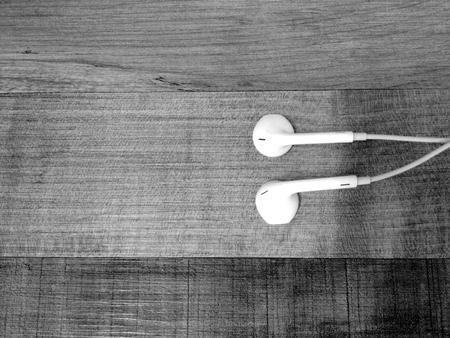 White earphone on the floor