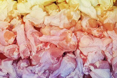 fresh raw chicken texture background