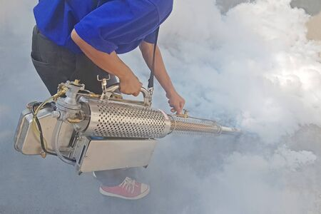 have sprayed mosquito protection or Fumigate mosquito or Spit smoke Chase mosquitoes