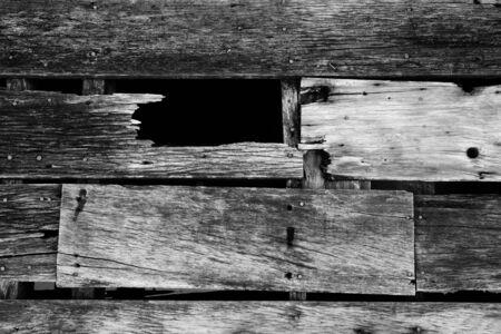 wood floor decadent or  decay,wood floor  with cracks Stock Photo