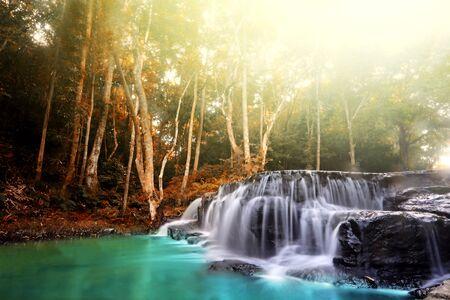Amazing beautiful Sam Lan waterfalls, Khao Sam Lan National Park, Saraburi province Thailand Foto de archivo