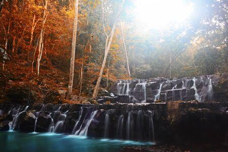 Amazing beautiful Sam Lan waterfalls, Khao Sam Lan National Park, Saraburi province Thailand