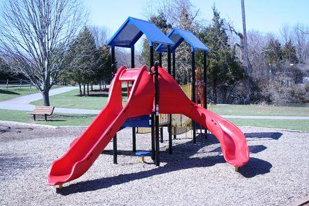an image of a park slide photo
