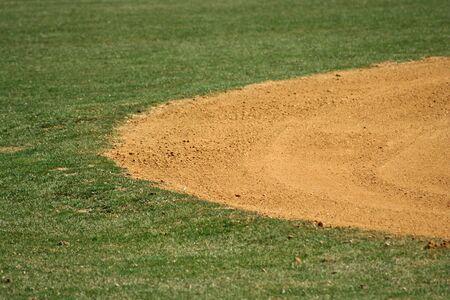 Una imagen de un campo de béisbol  Foto de archivo - 863895