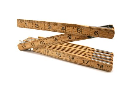 an image of a wooden folding ruler