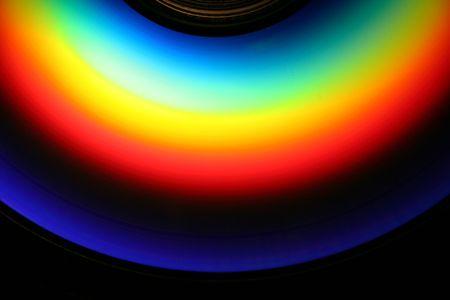 an image of a rainbow on a cd Stock Photo