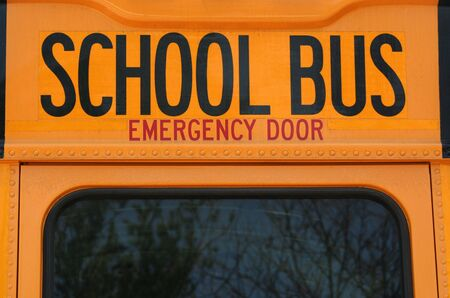 an image of the back of a School Bus Stock Photo - 864033