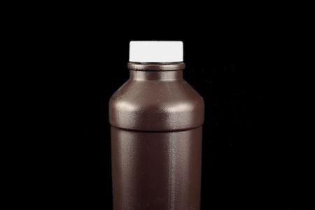hidr�geno: Una imagen de una botella marr�n