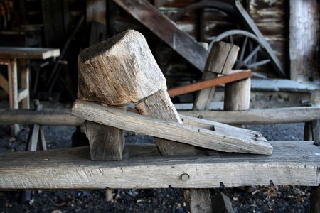 vise: an image of a Old Woodworkers Vise Stock Photo
