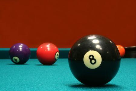 An image of some billiard balls Archivio Fotografico