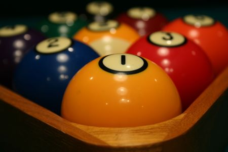 An image of some Racked billiard balls Stock Photo - 926859