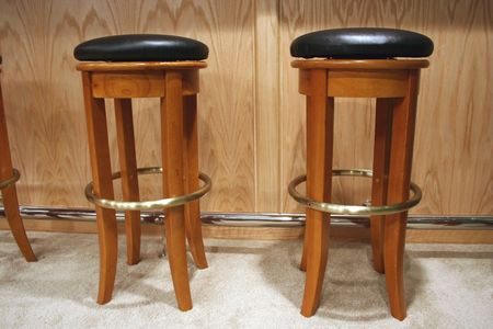 an image of a couple of bar stools Stock Photo - 926862