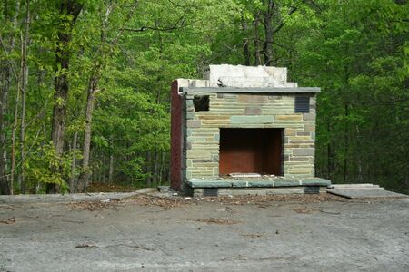 an image of a Abandoned Fireplace