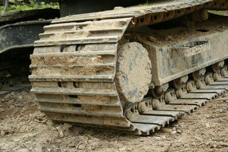an image of a backhoe tracks Stock Photo - 948019