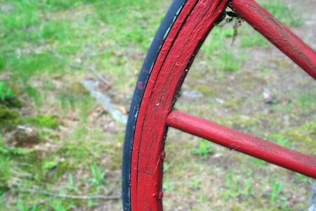 an image of a Red Wagon Wheel Stock Photo - 948028