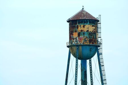 the water tower: Old water tower Stock Photo