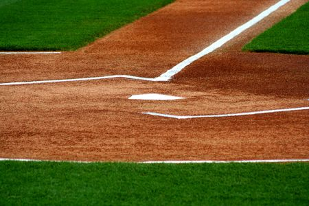 an image of home plate on a baseball field Stock Photo - 980205